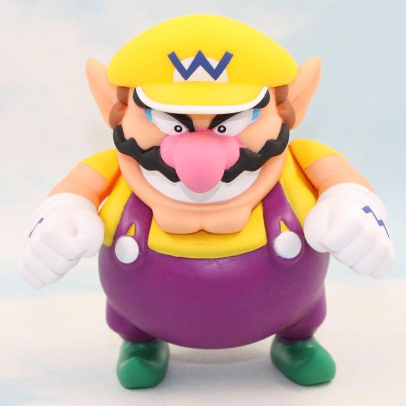 12Cm Cosplay Super Mario Wario Pvc Action Figure Pop Speelgoed Voor Kinderen Verjaardagscadeautjes
