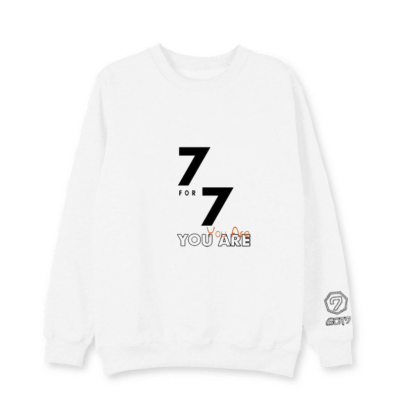 New Kpop GOT7 same style Winter Women Hoody Long Sleeve Korean version Print Sweat shirt Hoody