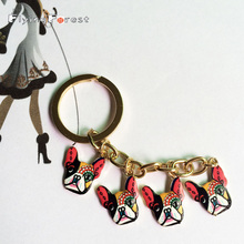 new -plated alloy key chain,printing keychain,pet chain,bulldog chain,alloy printing  present