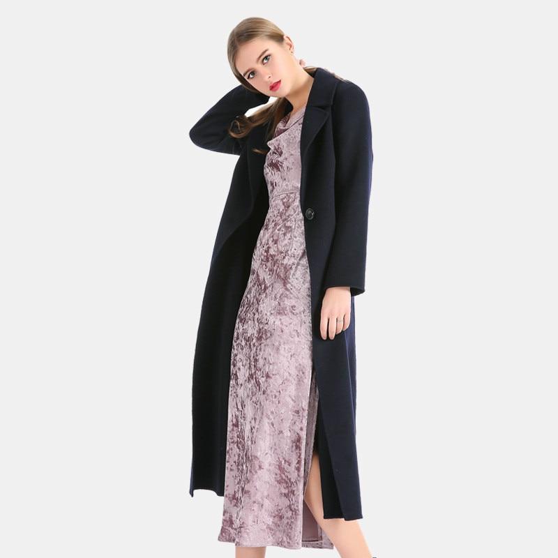 Double Face Coat Free shipping 2017 Wool Women Coat Navy Wool Coat ...