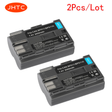 JHTC 2Pcs/lot 2000Mah BP-511 BP511A Digital Camera Battery For Canon EOS 40D 300D 5D 20D 30D 50D 10D D60 G6 Batteries