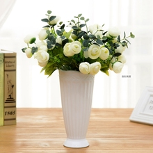 European table ceramic vase ornaments white floral decoration flower vase whole bedroom furnishings