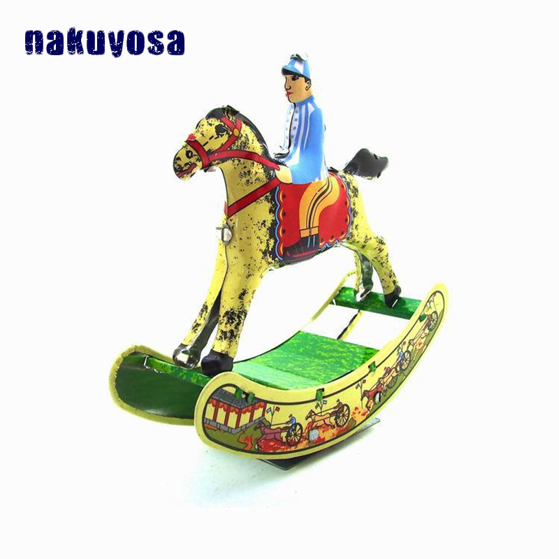 A Horse Swaying Back And Forth Vintage Reminiscence Clockwork Toy Childhood Memories Cool Ornaments Metal Wind Up Toys For Kids