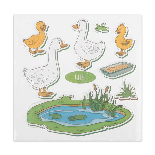 Goose Duck Stamps with Metal Cutting Dies Frame Stencils Set For ...