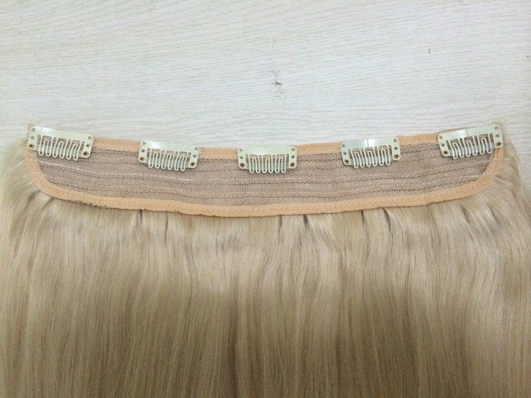 African American Clip In Human Hair Extensions 100% Human Hair Clip In One Piece Hair Extension Human Hair for Black Women (2)