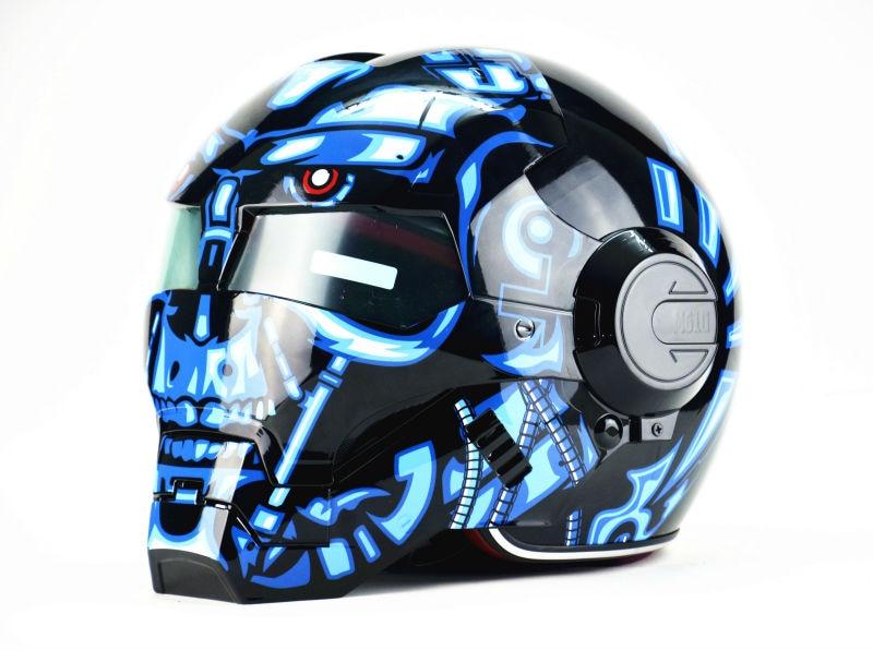 Masei bike scooter motoTerminatorhelmet Iron Man helmet motorcycle helmet half helmet open face helmet  ABS casque motocross