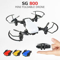 SG800 Selfie Drone Professional Helicopter Wifi Phone Control RC Quadcopter Foldable Drones with Camera HD vs xs809hw S9W