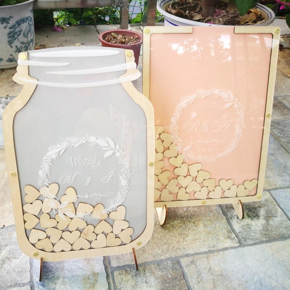 Personalised Wedding Guest book, Custom Drop top Drop box wedding Decoration alternative Guest Book , Rustic Wedding Gift
