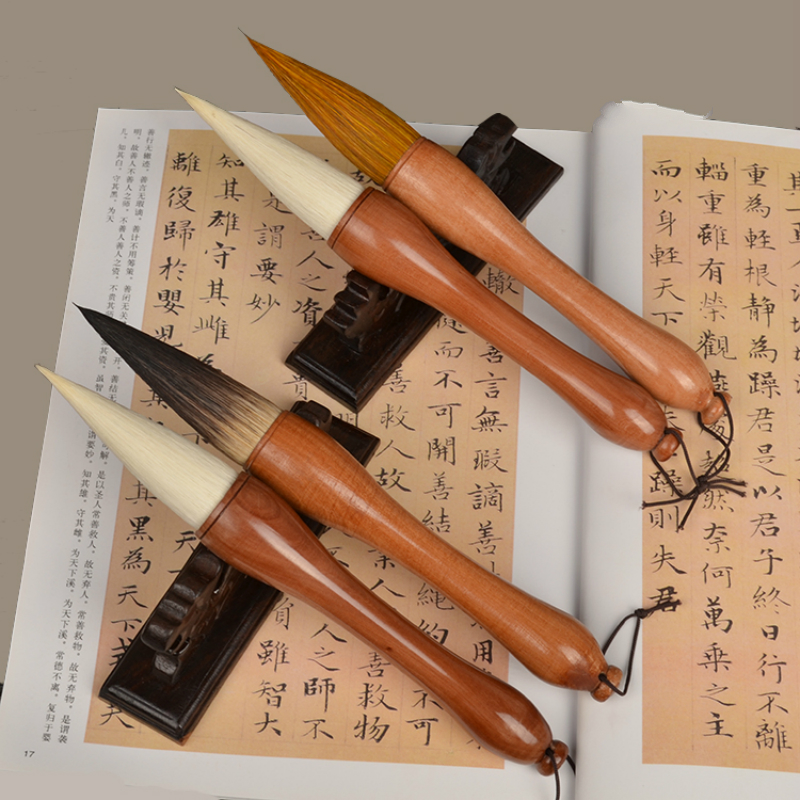 лучшая цена Hopper-shaped Brush Pen for Landscape Paiting and Extra Large Characters Chinese Traditional Calligraphy Multiple Hair Brush Pen