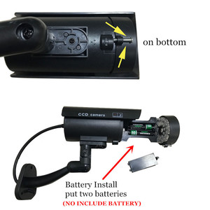Image 3 - Fake Dummy Camera Bullet Waterproof Outdoor Indoor Security CCTV Surveillance Camera Flashing Red LED Free Shipping