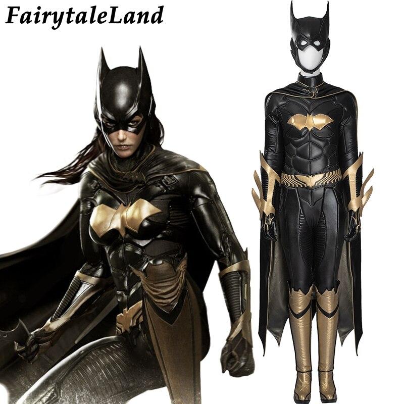Alibaba グループ 上の バットマン: Arkham 騎士バットガールのコスプレ衣装大人のハロウィンコスチューム女性バットマンバットガールジャンプスーツスーパーヒーロー衣装 1