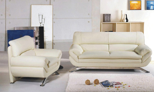 Best Furniture France Design French Geniue Leather Modern Sectional Sofa  Set, 123 Chair Love Seat