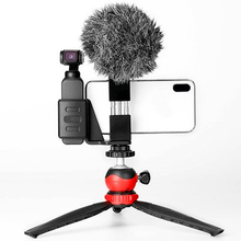 Phone Video Tripod Clamp Mount Adapter/Vertical Bracket With Cold Shoe Smartphone Holder/Clip Clipper Sidekick Set Meal For Live недорого