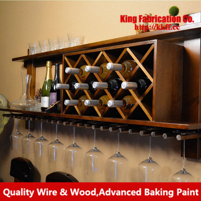 Wall Mounted Wine Rack Creative Wood Wine Cabinets Customized Wine Glasses Hanging