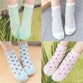2016 nova primavera verão aplacan moon stars stripes bonito meninos meninas meias meias de algodão meias de malha respirável meias bebê