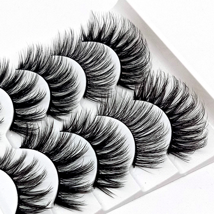 Image 2 - HBZGTLAD Mix 5pairs natural false eyelashes fake lashes long makeup 3d mink lashes eyelash extension mink eyelashes for beauty-in False Eyelashes from Beauty & Health