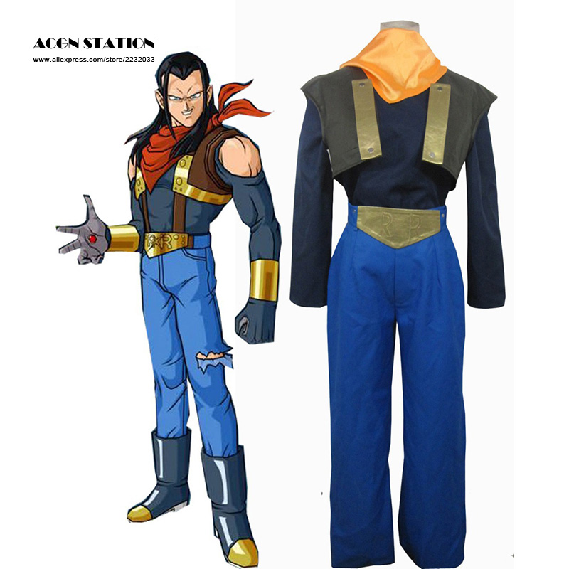 2018 Top Selling Halloween costume for Kids Dragon ball Z Super Android No.17 Cosplay Costume Anime Costume Halloween Costume