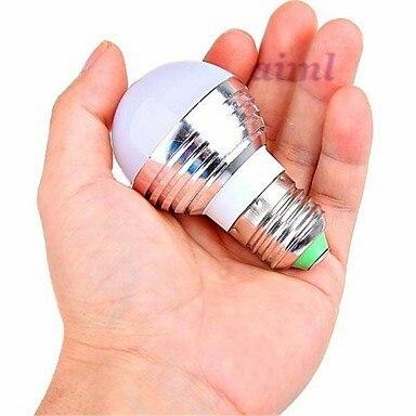 5 шт. E26/E27 3 Вт LED 180 лм RGB с дистанционным управлением Круглые лампы AC 85 265 в - 4