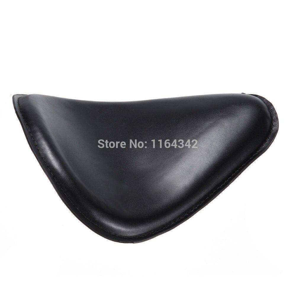 Black 11.8 Softail Solo Seat For Harley Chopper Bobber Custom With Chrome Bracket & 3 Coil Springs