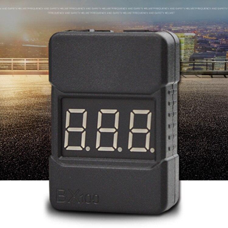 Тестер напряжения Lipo для батарей BX100 1-8S, 2 шт./1 шт., сигнал тревоги низкого напряжения, проверки напряжения батареи с двумя динамиками