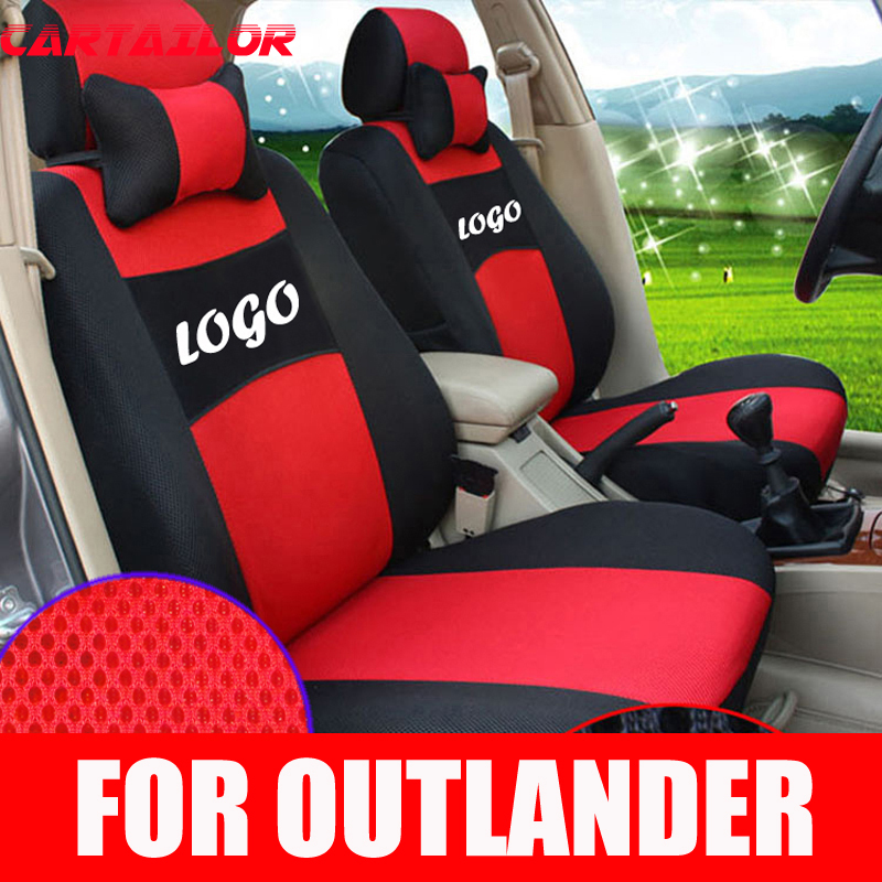 CARTAILOR car seat covers & supports custom for Mitsubishi Outlander cover seats protector car accessories mesh seat cover set