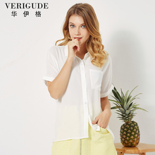 2018 Women Chiffon Shirt Solid  Shirt Loose Blouse Girl Gift Fit For Work or Casual  Cool Wear New Arrival