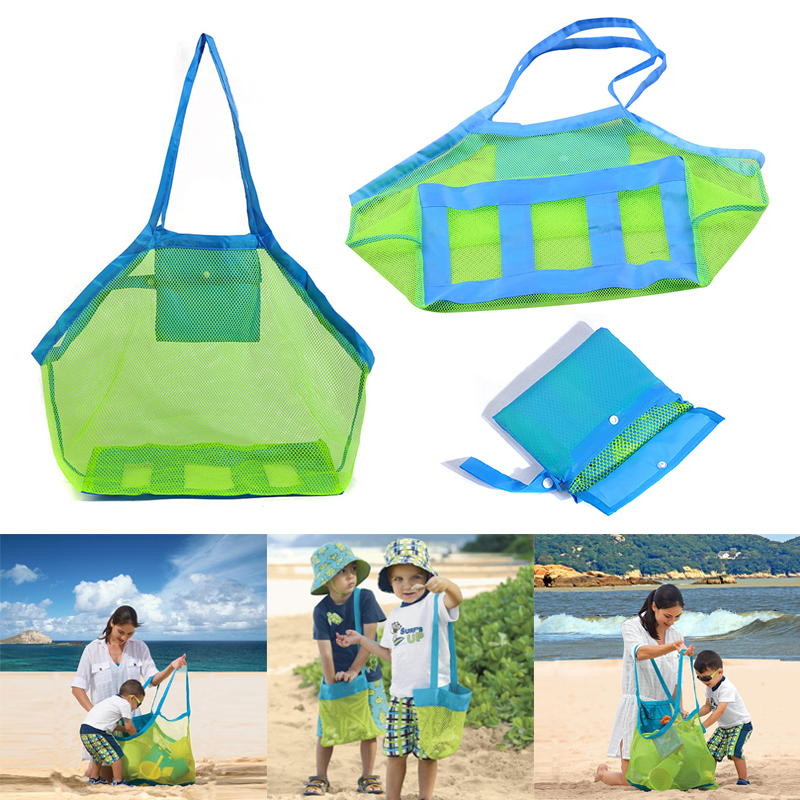 2019 New Hot Popular Style 1 <font><b>x</b></font> Beach Bag Kids Baby Sand Away Carry Beach <font><b>Treasures</b></font> <font><b>Toys</b></font> Pouch Tote Mesh Childrens Storage Bag image