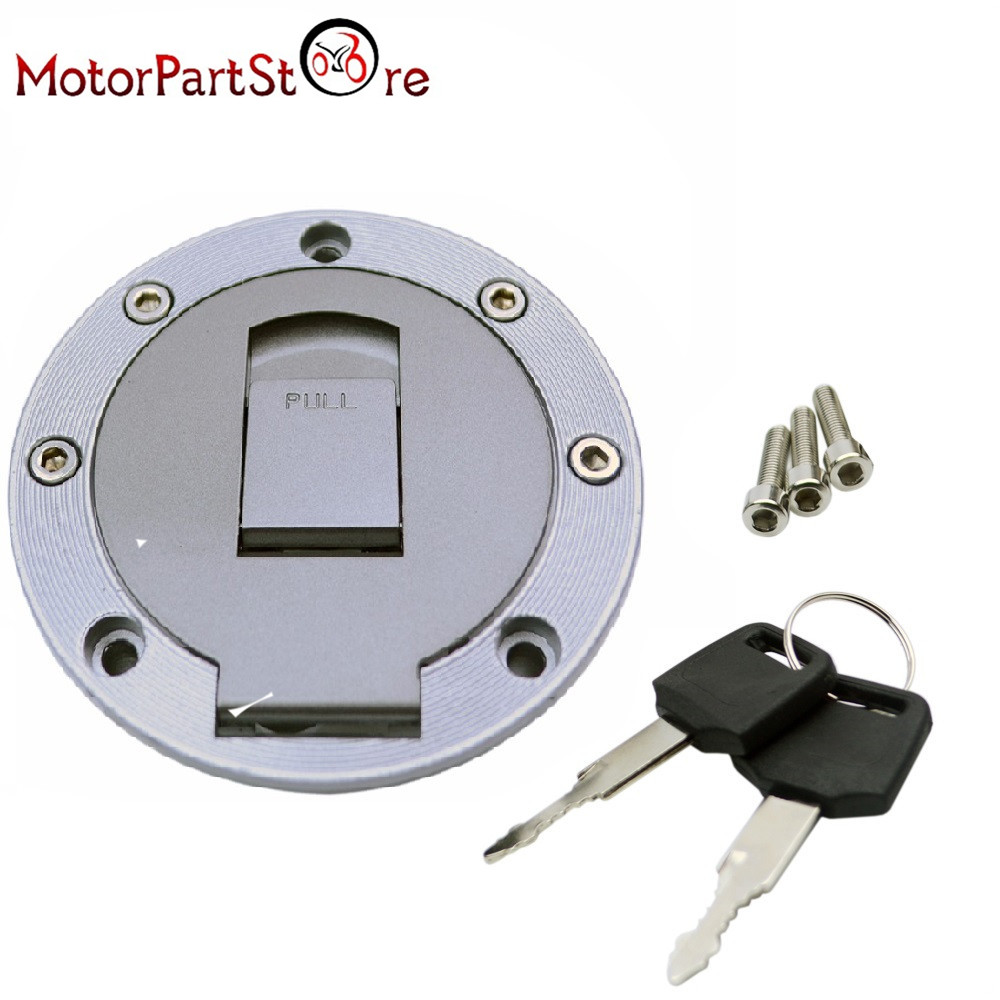 Fuel Gas Petrol Tank Cap with Lock Keys & Screw Bolts for Yamaha FZR250 FZR400 FZR600 FZR750 Motorcycle Accessories