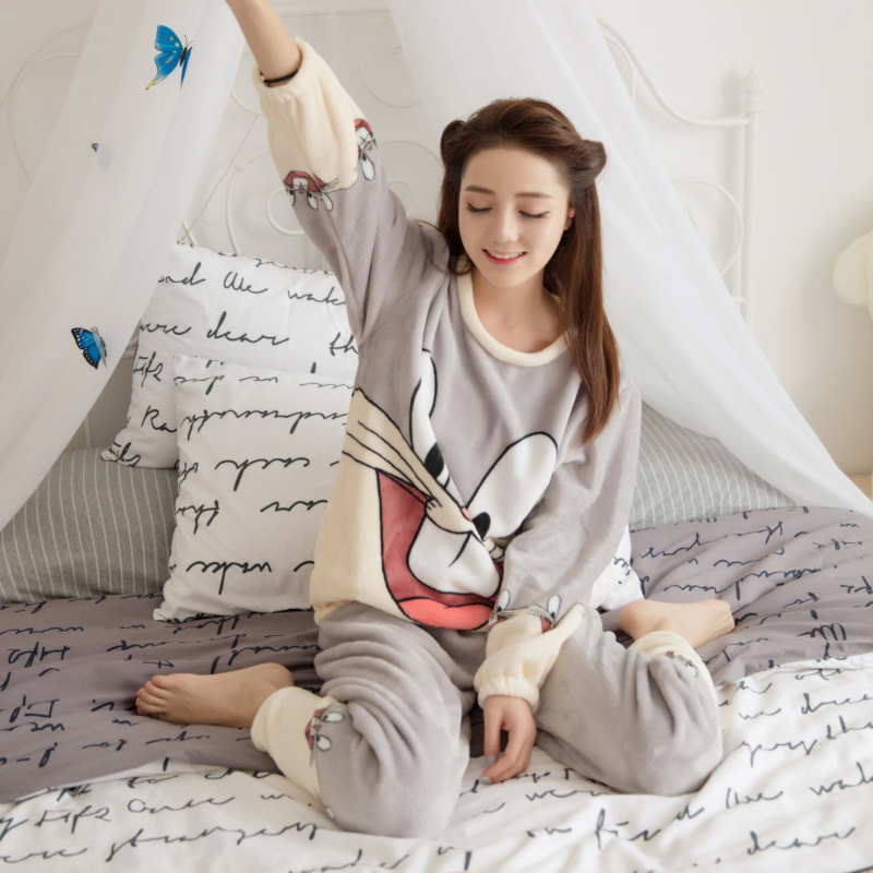 048ceff761a0 2016 фланель pigiama пижамы Для женщин Зимняя Пижама для Для женщин зимние  Для женщин плюшевые Пижамы для девочек Пижама Мягкая feminino Пижама Mujer