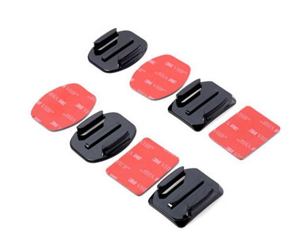 For Gopro Base 2pcs Flat Adhesive Mount + 2 Curved Mount Adhesive For Go Pro Hero 4 3 2 Black SJ4000 Gopro Accessories Set