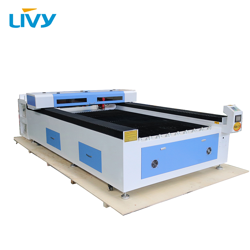 China 150W Reci laser tube CO2 mix cutting machine metal cutter LV L1325S + CW5000 water chiller