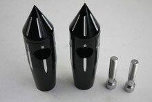 Black Spike Handlebar Risers For Yamaha Honda Suzuki Kawasaki 4″ Bars