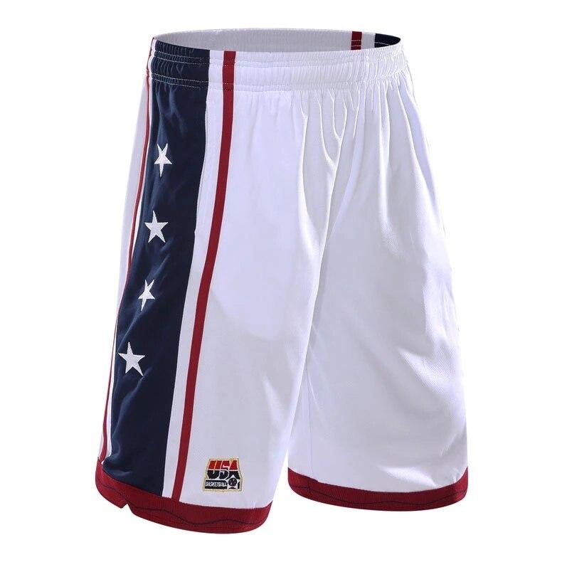 Mens Athletic Shorts 2XL Black Red Basketball Workout Run Pockets Micro Mesh XXL