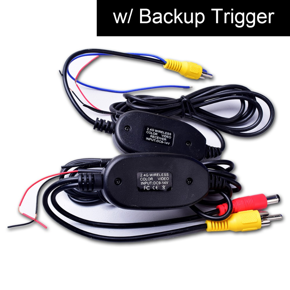 Wireless Video Cable W Backup Trigger Wire Tx Amp Rx For
