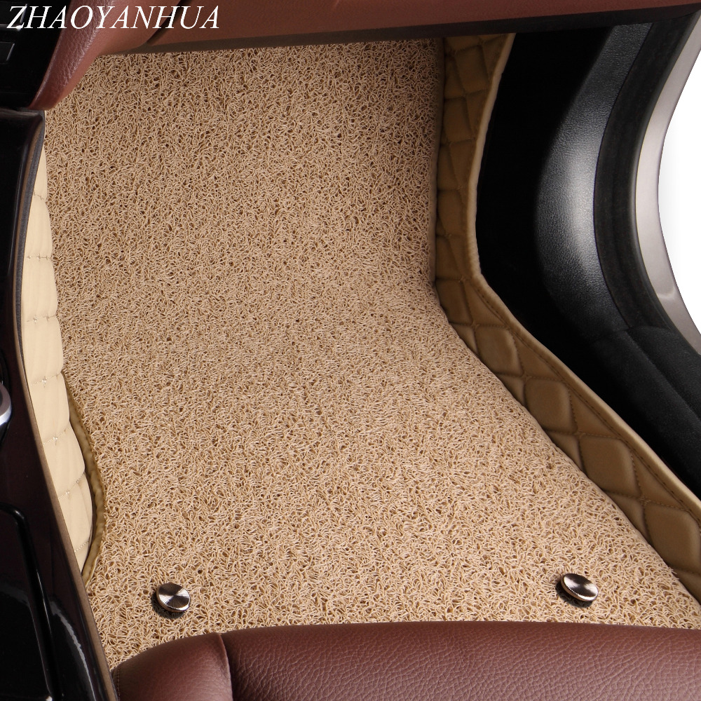 ZHAOYANHUA Car floor mats for Toyota Camry Corolla Mark X Crown Verso FJ Cruiser yaris L 5D car styling carpet floor liner