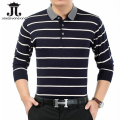 Men's POLO Shirt Stripe Business Clothing Full polo shirt for man wool polo shirts mens band clothing Plus Polos Masculina M-3XL
