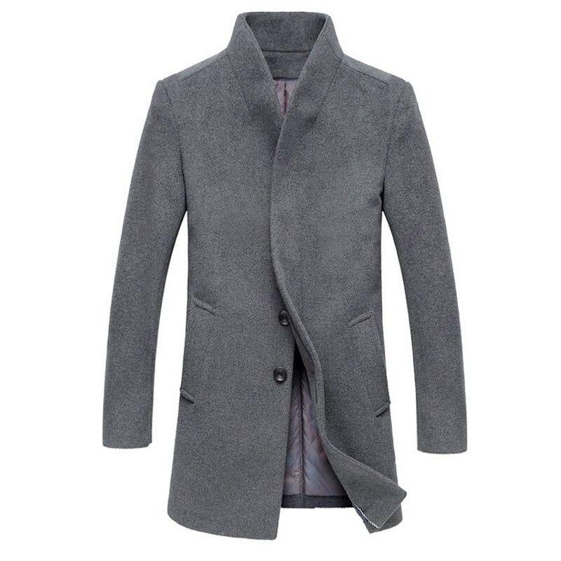 Классические мужские куртки верхняя одежда Тренч шерстяные пальто Модная длинная куртка ветровка теплое зимнее пальто мужская одежда Hombre