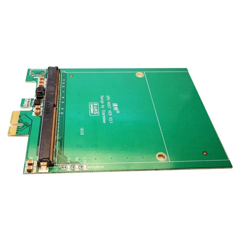 PCI-E a MXM3.0 Scheda grafica PCI Express X1 per MXM 3.0 Raiser Riser Card Adattatore Scheda del Convertitore con LED per BTC Miner MiningPCI-E a MXM3.0 Scheda grafica PCI Express X1 per MXM 3.0 Raiser Riser Card Adattatore Scheda del Convertitore con LED per BTC Miner Mining