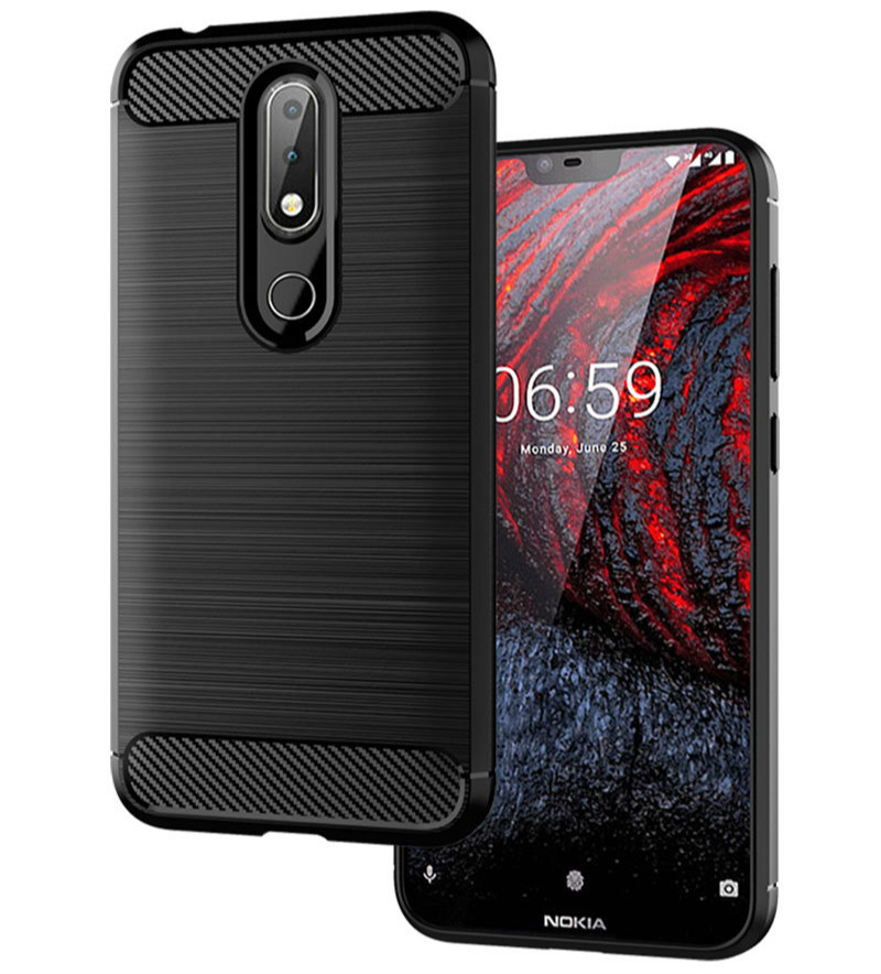 Shockproof Carbon Fiber TPU Phone Case Cover For Nokia 4.2 6.2 3.2 2.2 6.1 5.1 2.1 3.1 7.1 1 5 6 7 8 X71 X5 X6 X7 Plus 2018 Case