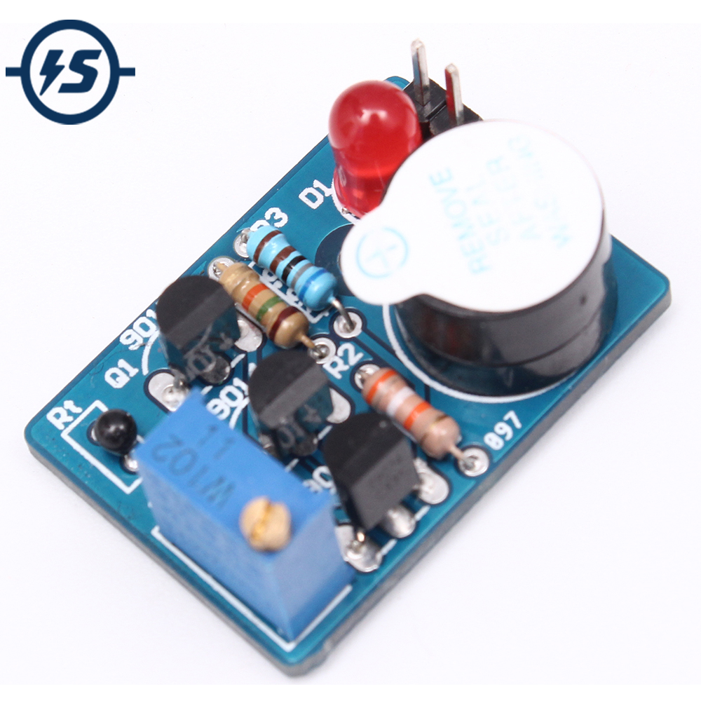Diy Classic Operational Amplifier Circuit Experimental Board Kit Usb To 232 Serial Port Diagram Amplifiercircuit 2pcs Electronic Temperature Control Sound Light Alarm Suite Dc 35v Icsk061a