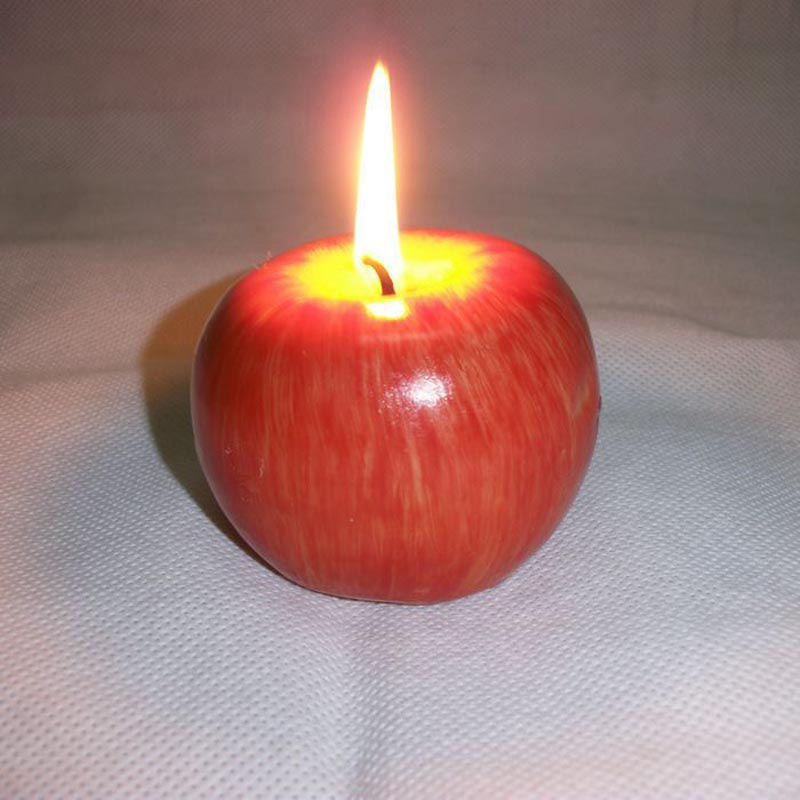 Home Red Apple Shape Fruit Scented Candle Gift Wedding Decoration Valentine's Day Christmas Candle Lamp  AI88
