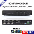 New 16ch Full 960H D1 CCTV DVR Recorder Real Time HDMI Security Hybrid NVR DVR 3 In One Support Mobile Phone View Onvif