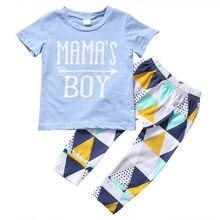Простая Активная Одежда для новорожденных; одежда для детей и малышей; футболка для мальчиков; длинные штаны; одежда