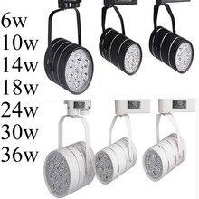 Светодиодная дорожка 6 Вт 10 Вт 14 Вт 18 Вт светодиодные точечные потолочные светильники лампа для магазина decoratiom 100100 лм/Вт теплый холодный белый