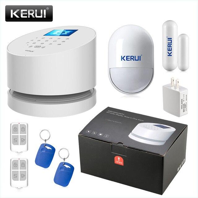 KERUI W2 WIFI GSM PSTN Security Alarm System SMS RFID Disalarm Low battery Indication APP Control Burglar Alarm System