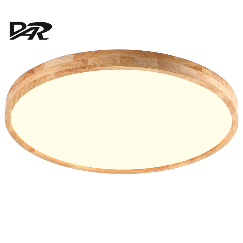 DAR Ultra-thin Led Ceiling Lamp AC 90-260V Wooden Round Light Ceiling Fixtures Bedroom Living Dining Room Ceiling Lights ultra thin pendant lights cord lamp dining room lustres 90 260v chandelier ce ul for kitchen led ceiling fan hang fixtures