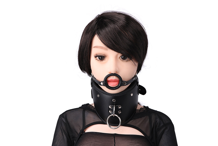 Silicone Harness Open Mouth O Ring Gag,BDSM Fetish Head Harness Mouth Gagged Adult Bondage Games Accessories cosplay For couple