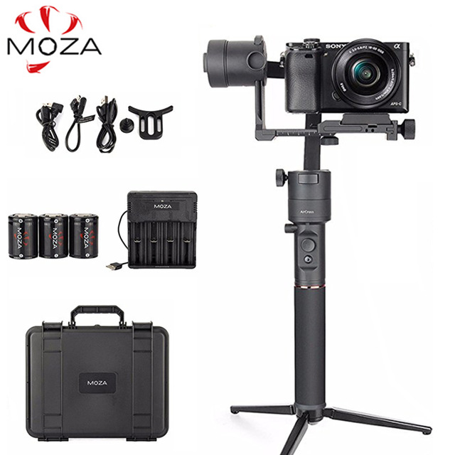 MOZA Aircross 3-Axis Handheld Gimbal Stabilizer Up to 1.8KG for DSLR Mirrorless Camera Sony A6000 RX100 A7 Panasonic GH5 GH4 цена
