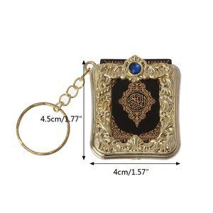 Image 5 - MenMini ארון קוראן ספר נייר אמיתי יכול לקרוא ערבית הקוראן שרשרת מוסלמי תכשיטי מתנת מזכרות