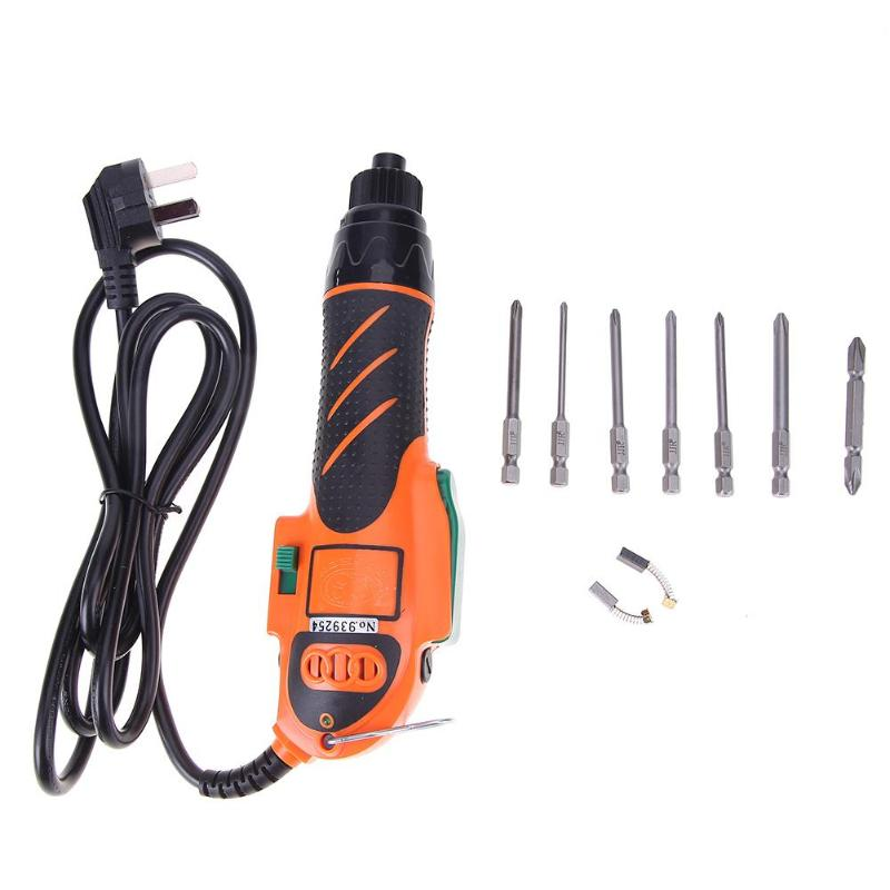 цена на AC Power Handheld Screwdriver 220V Straight 6.3mm Electric Screwdriver Industry Tools Maintenance Tool Set with Bits